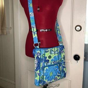 "Vera Bradley ""Daisy Doodle"" pattern Cross Body bag"